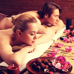 Romantische Partner-Massage